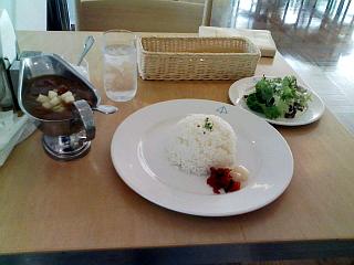 2008/10/13 青森県立美術館 cafe 4匹の猫 津軽鶏とりんごのカレーライス