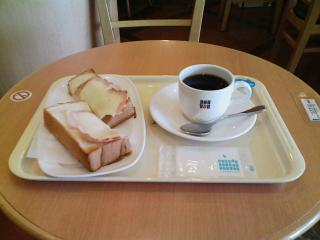 2008/10/13 ドトールコーヒーショップ 八戸駅店にてクロックムッシュ