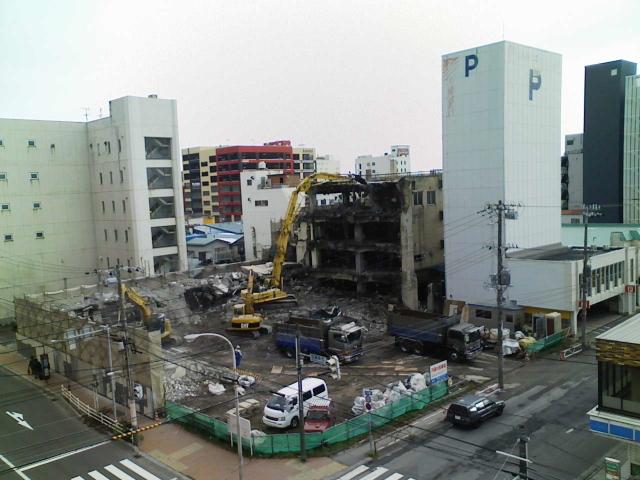 2008/11/24 高砂ビル 解体中