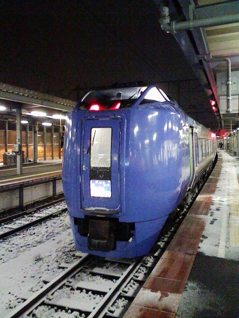 2008/12/21 スーパー北斗22号 函館駅にて