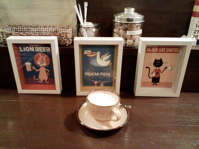 2009/01/22 daiana's cafe クロネコさん、ペリカンさん、ライオンさn