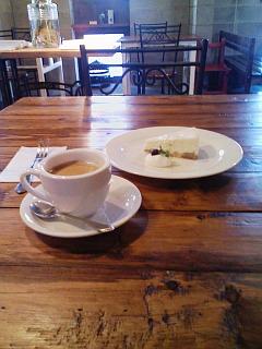 2009/02/01 リーヴス ホワイトチョコチーズケーキと珈琲