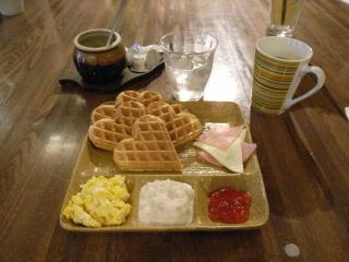 2009/05/03 戸倉町「goes around cafe」ランチワッフルとコーヒー