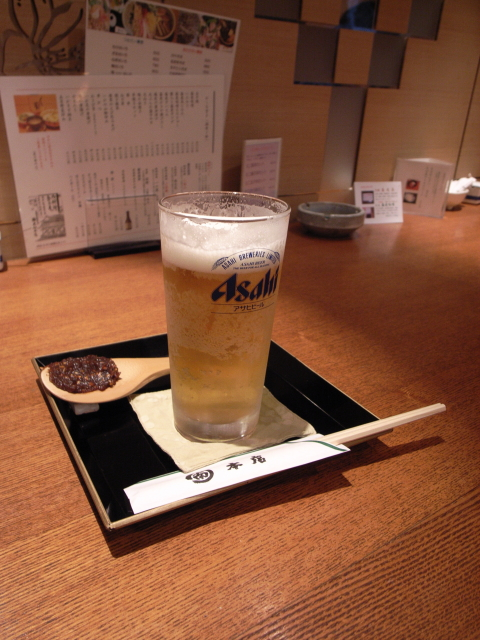 2009/05/04「丸南本店」ビールと蕎麦味噌