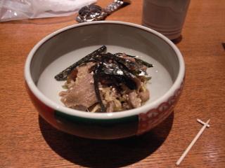 2009/05/04「丸南本店」鶏皮の醤油漬け