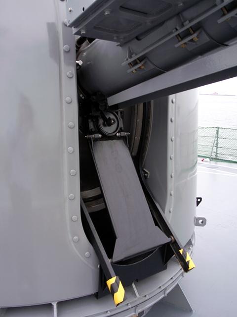 2009/08/02 DD-105いなづま 76mm砲 排莢装置