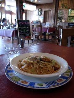 2009/08/23 八雲 DINNING PASTA Piatto 帆立とキャベツのトマトソースパスタ