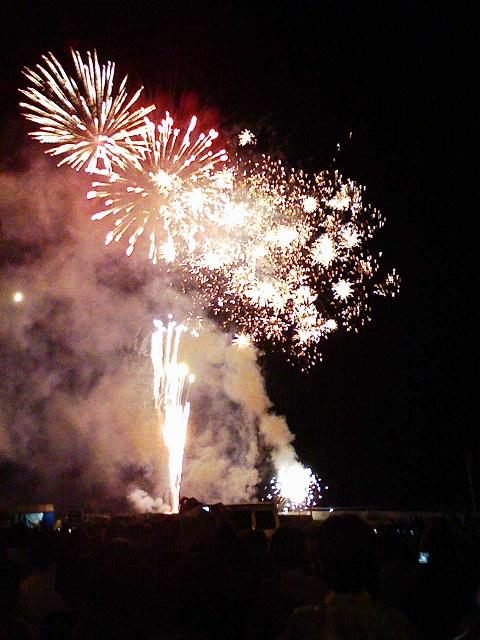 2009/08/29 湯の川温泉いさり火まつり 花火大会 観客席より
