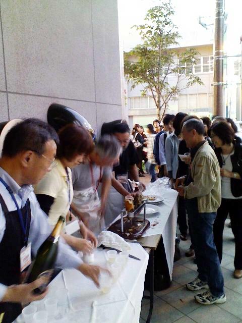 2009/09/11「秋バル」生ハム振る舞いサービス