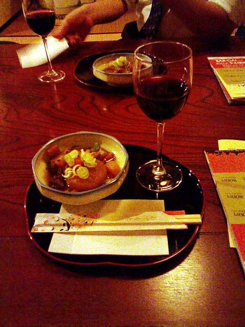2009/09/11「秋バル」菊泉 牛すじ煮込みと赤ワイン