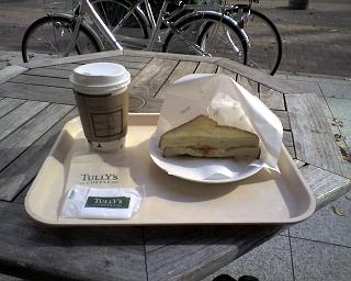 2009/11/15 タリーズコーヒー新横浜店 コーヒーとベーコンポテトサンド
