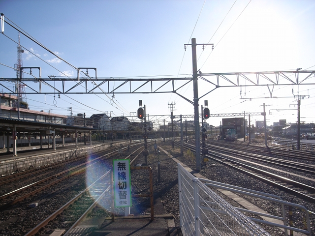 2009/12/20 成田駅ホームからの眺め