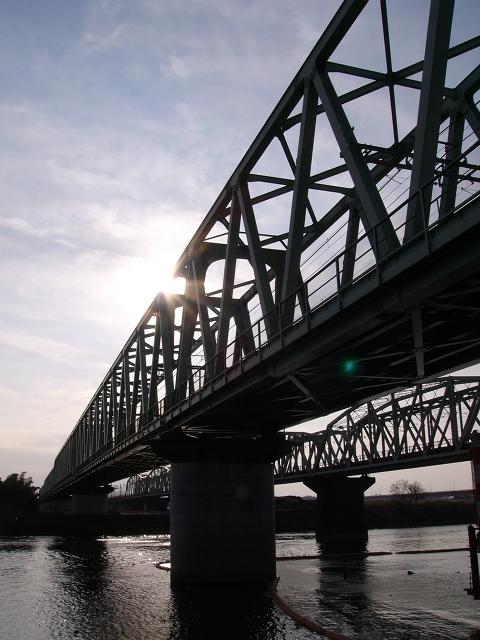 2009/12/27 常磐線利根川橋梁 取手側より