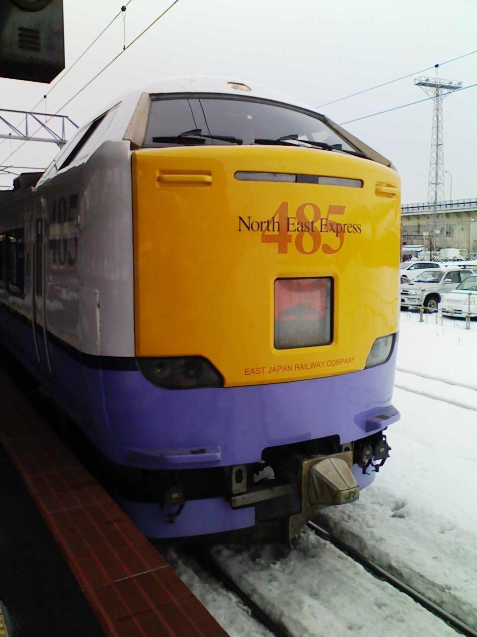 2010/01/06 白鳥18号 函館駅にて