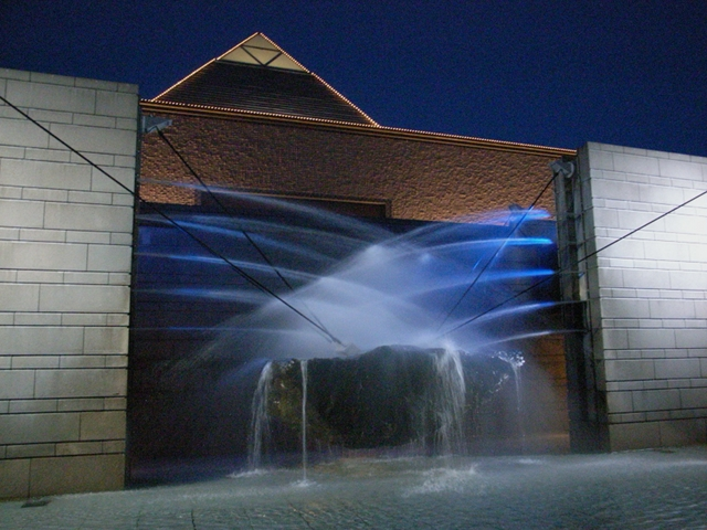2010/01/10 水戸芸術館噴水の夕刻