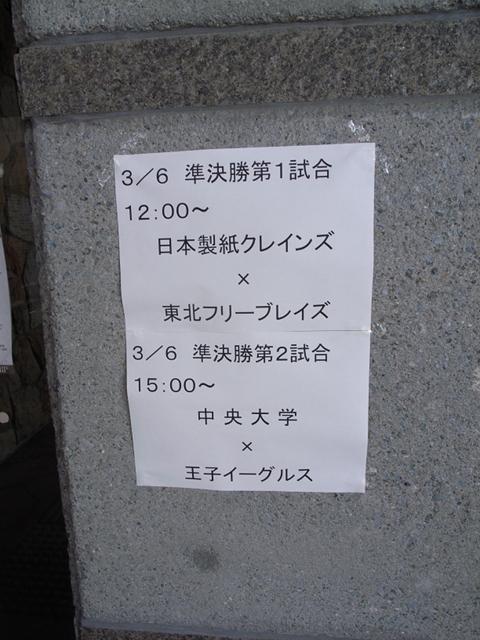 2010/03/06 第77回全日本アイスホッケー選手権大会 準決勝 組み合わせ