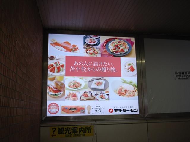 2010/03/06 苫小牧駅 王子サーモン 広告