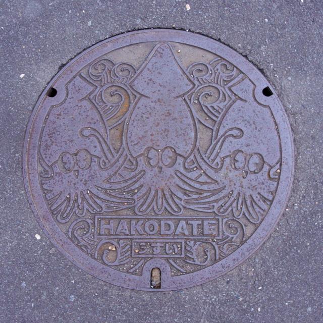 2008/06/07 烏賊マンホール