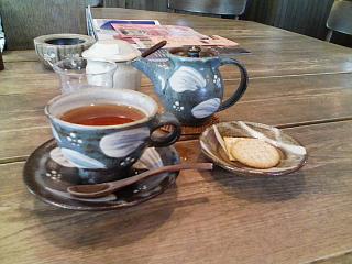 2008/06/14 松蔭町「茶楽居」にて。紅茶