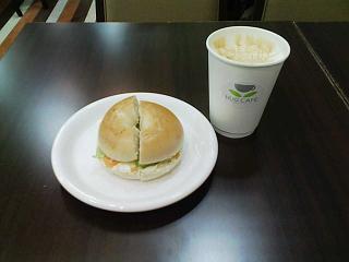 2008/06/07 HUG CAFE カフェキャラメルとベーグルサンド