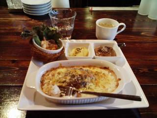 2008/04/09 きょうのお昼 カフェ・スプラウト ハンバーグドリア