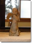 2009/01/12 茶房 桜の下 天使像