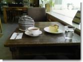 2009/01/17 cafe mountain books 焼きチーズケーキとオレンジティー