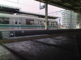 JR常磐線 サロE531 1階席からの眺め